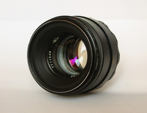 A vintage, Helios 44-2 lens.  Pentax mount, M42.